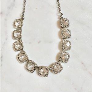 Silver Rhinestone Crystal Necklace